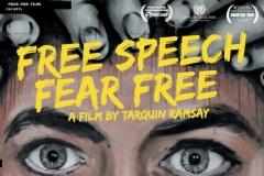 Free Speech Fear Free. Filmplakat